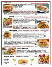Sandwiches | Route 66 Road Runner Menu | Eat in | Take out