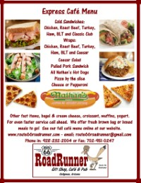 Express menu | Fast | Lunch | Take out | Route 66 Road Runner
