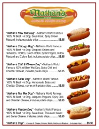 Nathans Hot Dogs | Route 66 Road Runner | Chili Dogs | Cheese Dogs